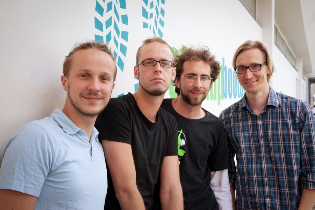 From left to right: Sebastian, Christian, Benjamin and Florian